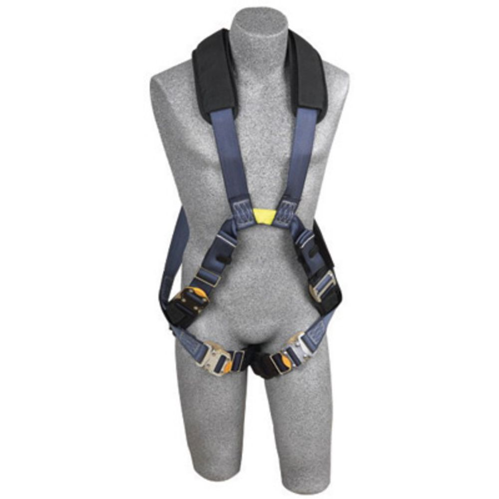 3M DBI-SALA Large ExoFit XP Arc Flash Cross Over Full Body Style Harness With Back And Front Web Loop, No Metal Above Waist, Quick Connect Leg Strap Buckle And Leather Insulators