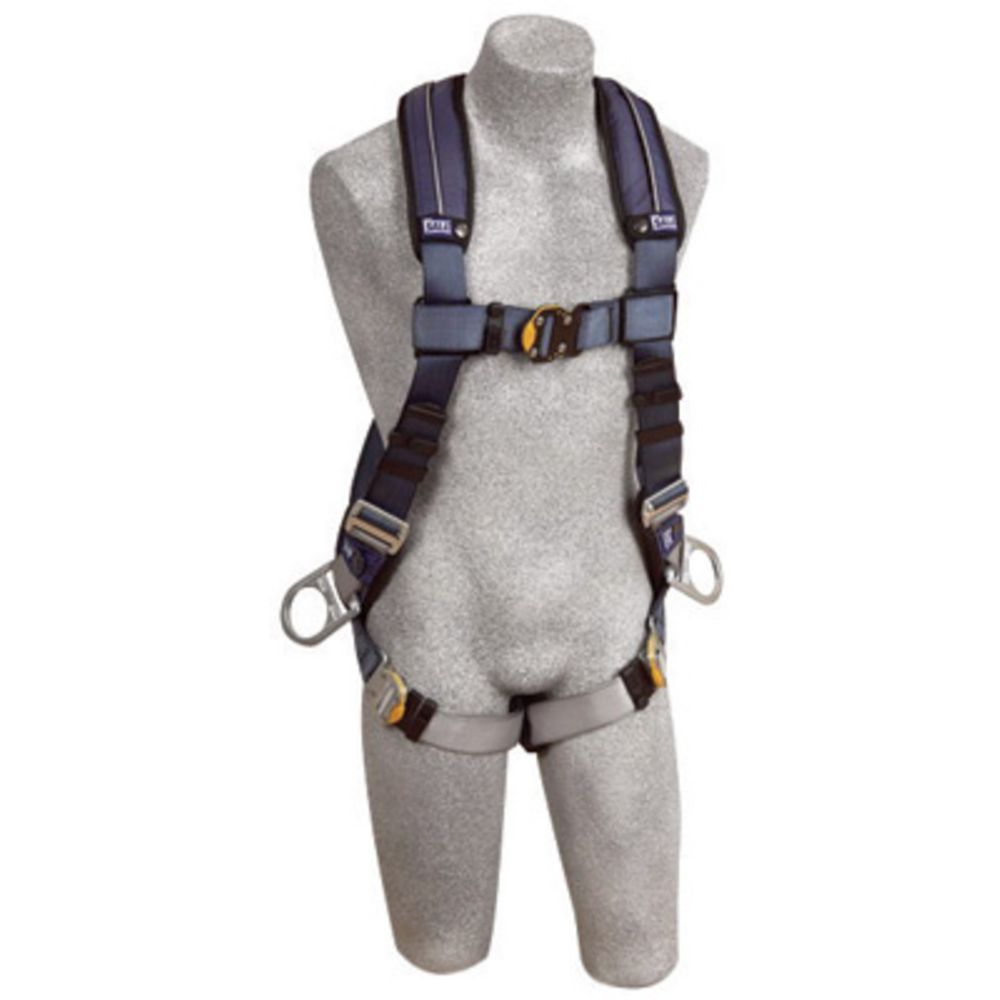 3M DBI-SALA Large ExoFit XP Full Body/Vest Style Harness With Back And Side D-Ring, Quick Connect Chest And Leg Strap Buckle And Removable Comfort Padding