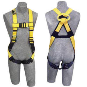 3M DBI-SALA Large Full Body Vest Style Harness With Non-Slip Chest Strap, Parachute Buckle, Pass- Thru Buckle Leg Straps, Non-Conductive Non-Spark PVC Coated Hardware And Web Loop On Back