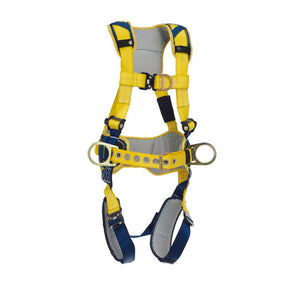 3M DBI-SALA Medium Delta Full-Body Harness With Back, Front And Side D-Rings, Padded Belt And Quick Connect Buckle Leg And Chest Straps