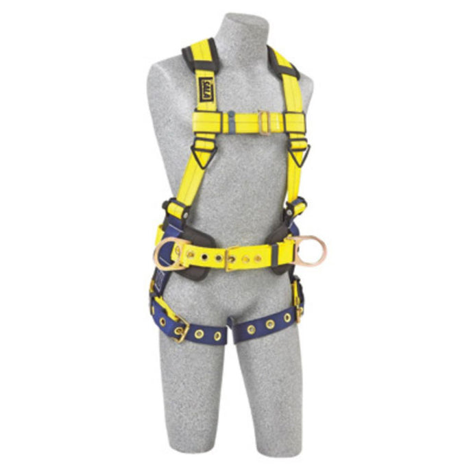 3M DBI-SALA Medium Delta II No-Tangle Construction/Full Body/Vest Style Harness With Back And Side D-Ring, Tongue Leg Strap Buckle, Body Belt With Sewn-In Pad And Shoulder Pad