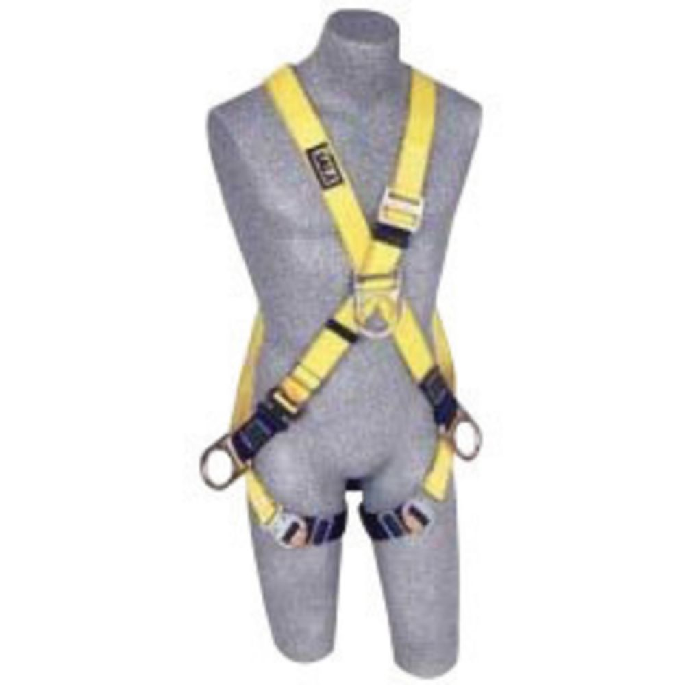 3M DBI-SALA Medium Delta No-Tangle Full Body/Vest Style Harness With Back And Side D-Ring, Belt With Pad, Shoulder Pads And Quick Connect Chest And Leg Strap Buckle