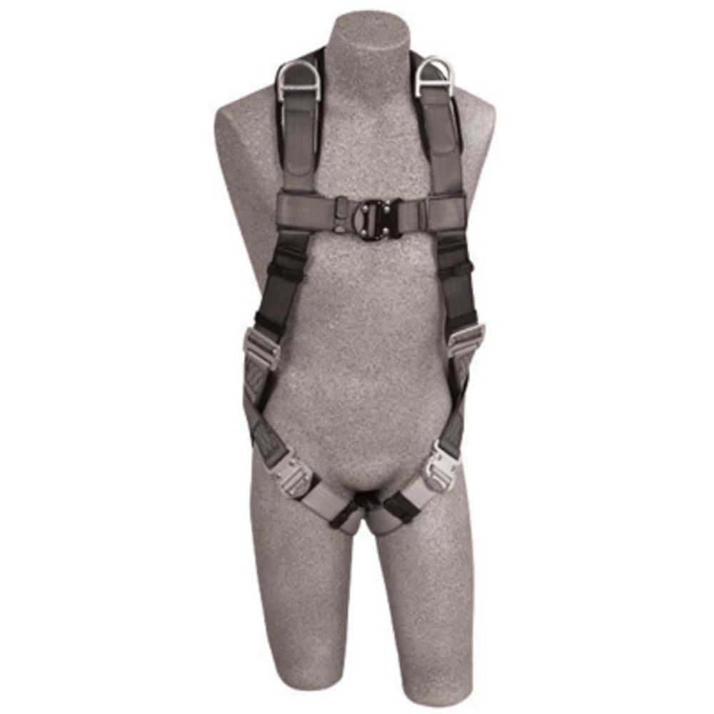 3M DBI-SALA Medium ExoFit Full Body/Vest Style Harness With Back And Shoulder D-Ring, Quick Connect Chest And Leg Strap Buckle, Loops For Body Belt And Built-In Comfort Padding