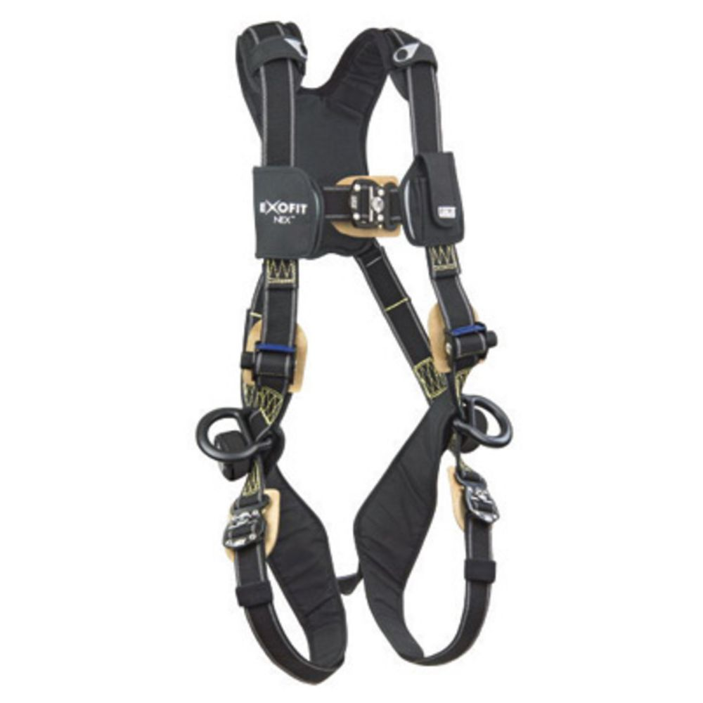 3M DBI-SALA Medium ExoFit NEX Arc Flash Positioning Harness With PVC Coated Aluminum Back And Side D-Rings, Comfort Padding And Locking Quick Connect Buckle Leg Strap