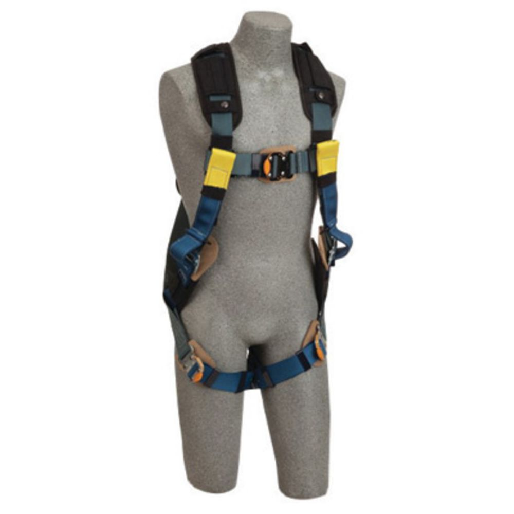 3M DBI-SALA Medium ExoFit XP Arc Flash Full Body/Vest Style Harness With Back D-Ring, Web Rescue Loops, Quick Connect Chest And Leg Strap Buckle, Leather Insulators And Nomex/Kevlar Comfort Padding