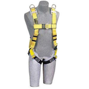 3M DBI-SALA Small Construction Cross Over Full Body Style Harness With Hip Pad