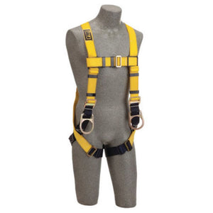 3M DBI-SALA Small Delta ConstructionFull BodyVest Style Harness With Back And Side D-Rings, Non-Slip Chest Strap, Parachute Buckles On Lower Shoulder Strap, Pass-Through Buckle Leg Strap And Tongue Buckle Body Belt With Foam Back Pad