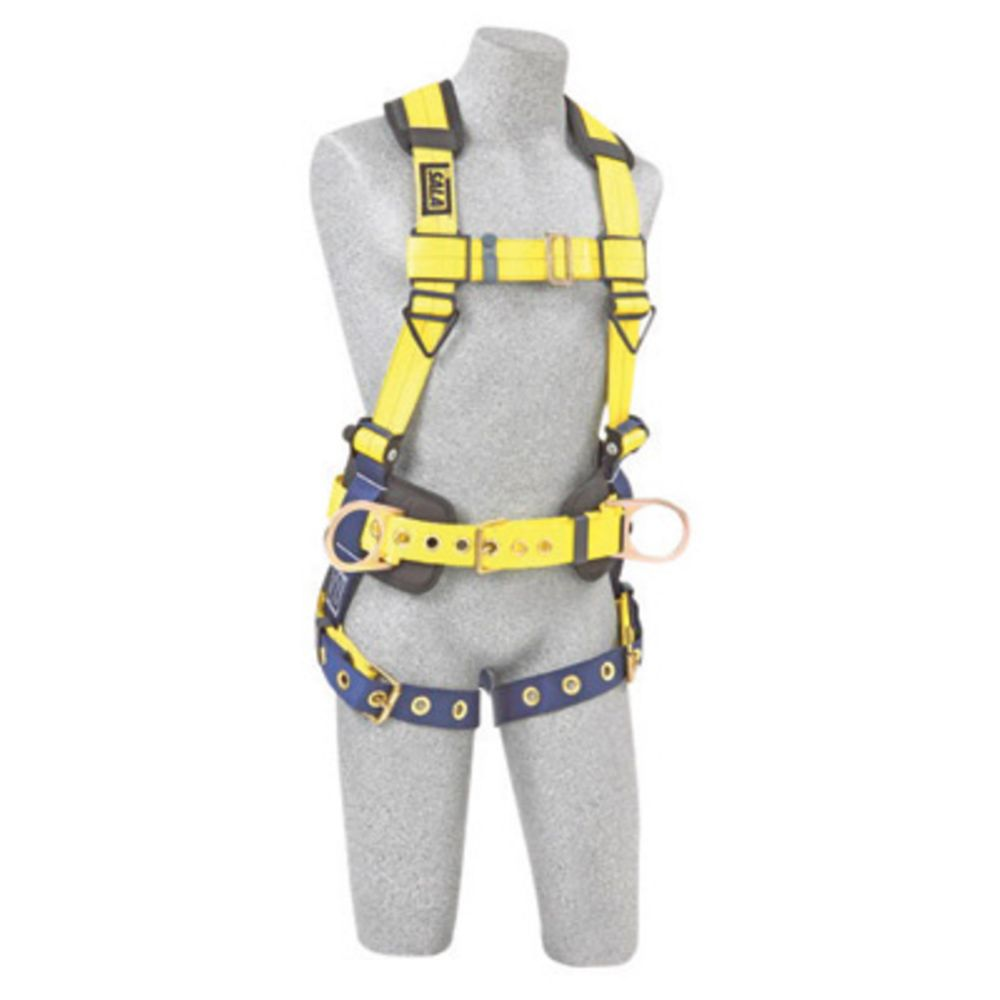 3M DBI-SALA Small Delta II No-Tangle Construction Full Body Vest Style Harness With Back And Side D-Ring, Tongue Leg Strap Buckle, Body Belt With Sewn-In Pad And Shoulder Pad