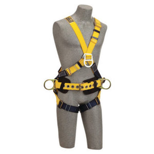3M DBI-SALA Small Delta No-Tangle Construction Cross Over Full Body Style Harness With Back, Front And Side D-Ring, Body Belt With Pad And Pass-Thru Leg Strap Buckle