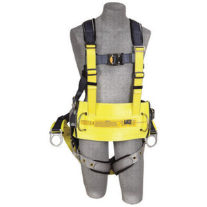 "3M DBI-SALA Small ExoFit Derrick Full BodyVest Style Harness With Back D-Ring with 18"" Extension Suspension, Tongue Leg Strap Buckle, Quick Connect Chest Strap Buckle, Seat Sling With Positioning D-Ring, Built-In Comfort Padding And Body Belt With Pad"