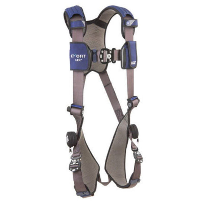 3M DBI-SALA Small ExoFit NEX Full Body/Vest Style Harness With Tech-Lite Aluminum Back And Front D-Ring, Duo-Lok Quick Connect Leg And Chest Strap Buckle, Torso Adjuster, Back And Leg Comfort Padding And Loops For Body Belt