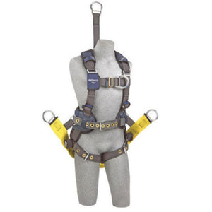 "3M DBI-SALA Small ExoFit NEX Oil And Gas Positioning/Climbing Harness With Back D-Ring, 18"" Extension, Tongue Buckle Legs And Connection For 1000570 Derrick Belt, Belt With Pad, Comfort Padding And Soft Seat Sling With Positioning D-Rings"