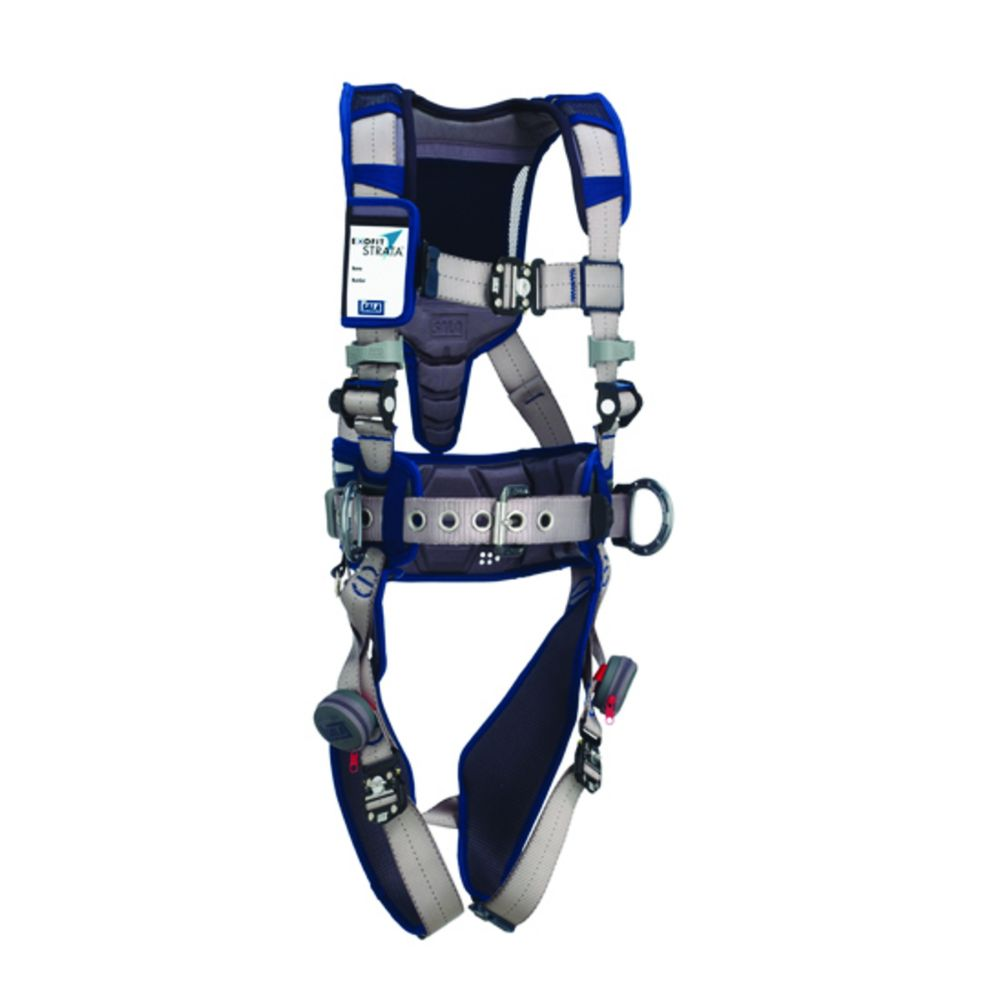 3M DBI-SALA Small ExoFit STRATA Construction Style Harness With Aluminum Back And Side D-rings, Duo-Lok Quik Connect Buckles, Waist Pad And Belt