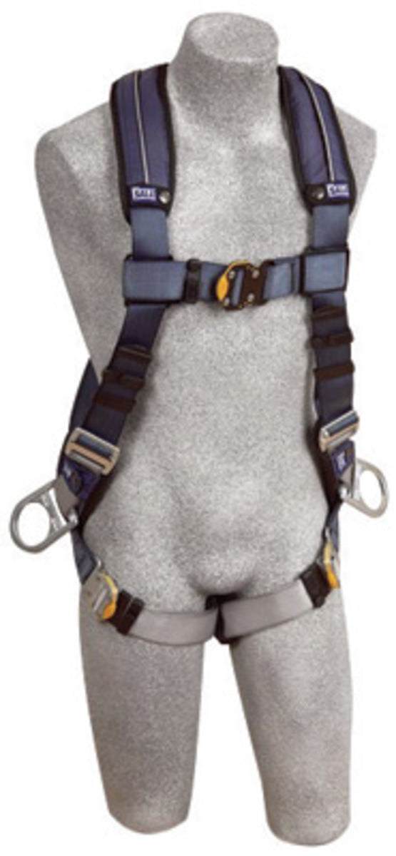 3M DBI-SALA Small ExoFit XP Full Body Vest Style Harness With Back And Side D-Ring, Quick Connect Chest And Leg Strap Buckle And Removable Comfort Padding