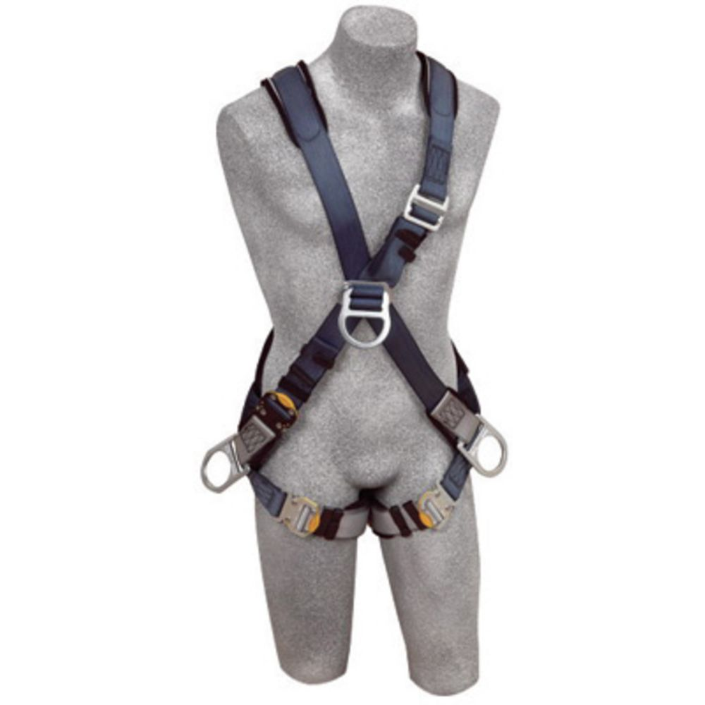 3M DBI-SALA Exofit Positioning Climbing Cross Over Style Harness With Back, Front And Side D-Rings, Quick Connect Buckle Leg Strap And Built-In Comfort Padding