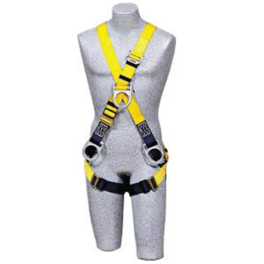 3M DBI-SALA Universal Delta Construction/Cross Over Style Harness With Stand Up Rear D-Ring, Front D-Ring, Tongue Buckle Leg Strap, Parachute Buckles On Lower Shoulder Strap And Loops For Belt
