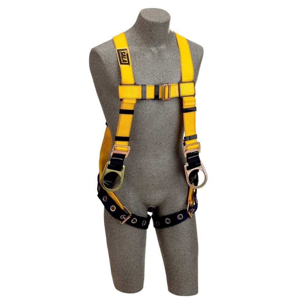 3M DBI-SALA Universal Delta No-Tangle Construction Style Positioning And Climbing Harness With Loops For Belt