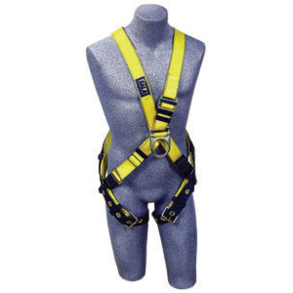 3M DBI-SALA Universal Delta No-Tangle Cross Over Full Body Style Harness With Back And Front D-Ring And Tongue Leg Strap Buckle