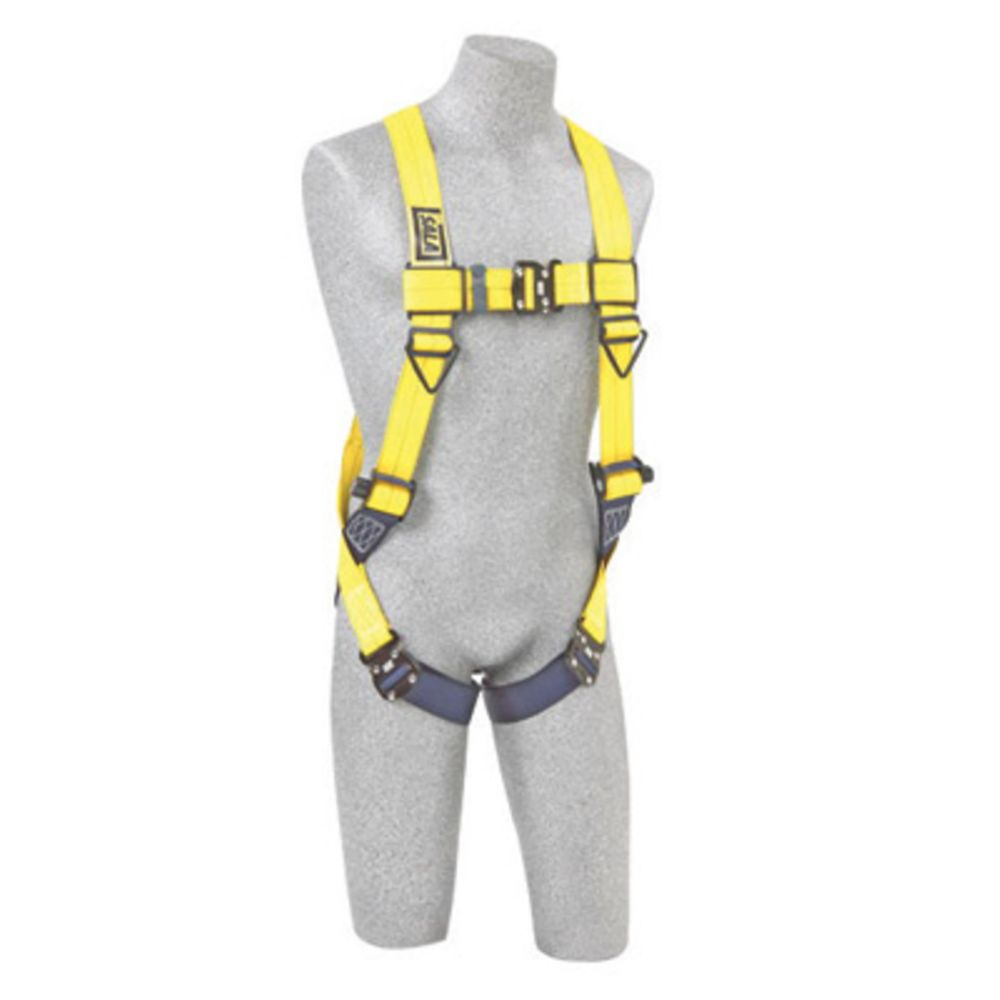 3M DBI-SALA Universal Delta No-Tangle Full Body/Vest Style Harness With Back D-Ring And Tech-Lite Quick Connect Leg Strap Buckle