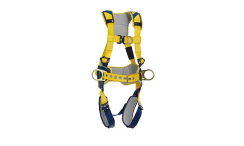 3M DBI-SALA X-Large Delta Construction Style Positioning Climbing Harness With Back, Front And Side D-rings, Belt With Pad, Quick Connect Buckle Leg And Chest Straps