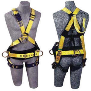 3M DBI-SALA X-Large Delta II Crossover Style Harness With Back D-Ring With 18 Inch Extension, Adjustable Front D-Ring, Body Belt, Back D-Ring And Foam Back Pad, Side D-Rings And Tongue Buckle Legs Straps