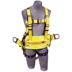 "3M DBI-SALA X-Large Delta II Derrick Style Harness With Back D-Ring With 18"" Extension, Tongue Buckle Legs, Belt With Pad, Seat Sling With Positioning D-Rings And Pass-Thru Connection For 1000570 Derrick Belt"
