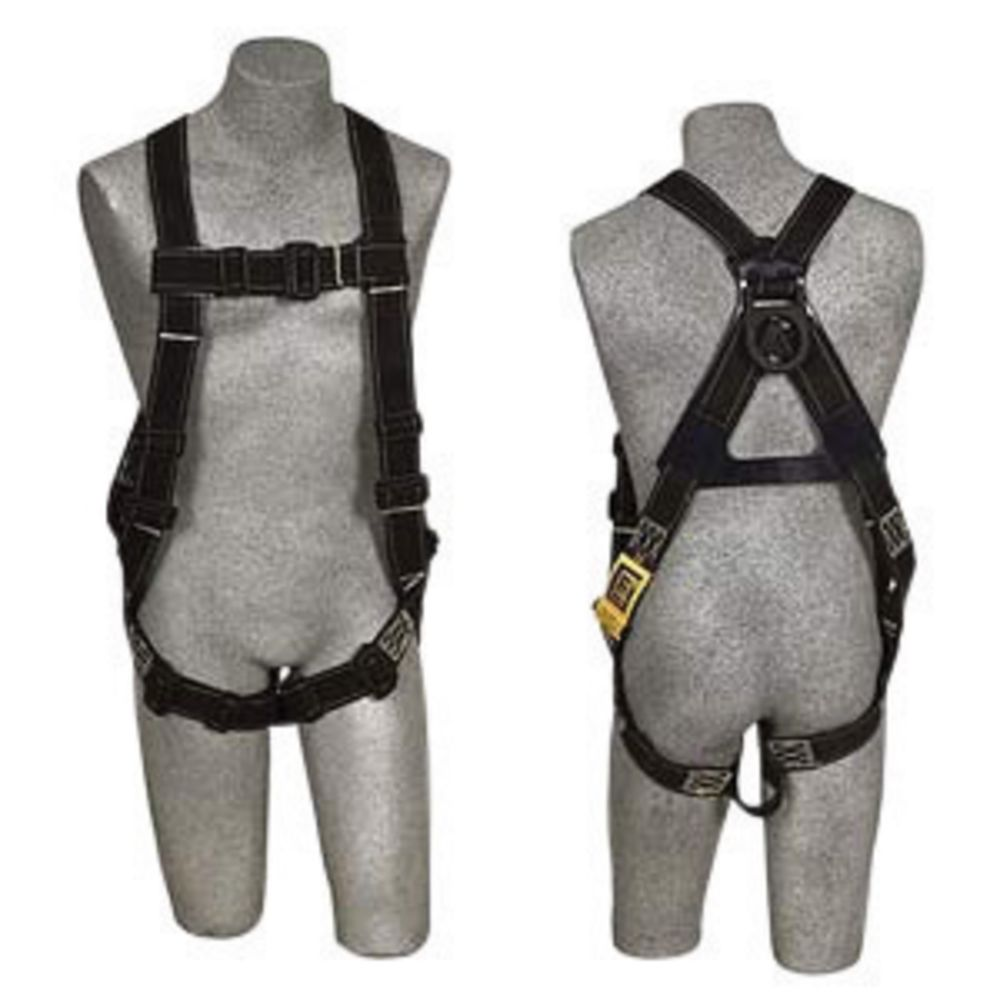 3M DBI-SALA X-Large Delta No-Tangle Full Body/Vest Style Harness With Back D-Ring, Pass-Thru Leg And Chest Strap Buckle, Built-In Loops For Body Belt And Comfort Padding