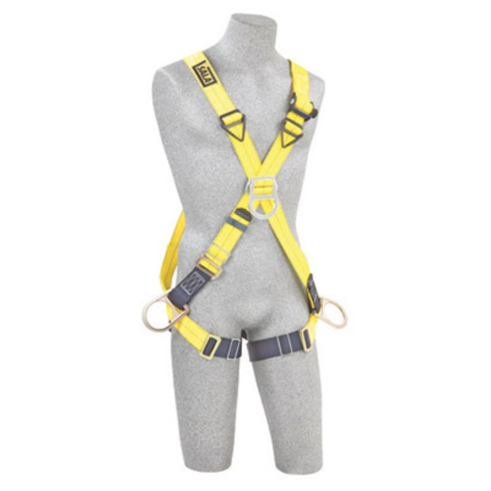 3M DBI-SALA X-Large Delta Positioning Climbing Cross Over Style Harness With Back, Front And Side D-Rings And Pass-Thru Buckle Leg Strap