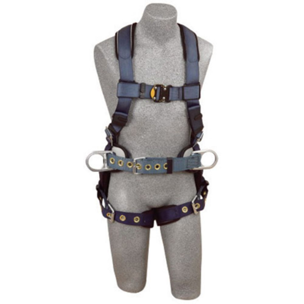 3M DBI-SALA X-Large ExoFit Construction/Full Body/Vest Style Harness With Back And Side D-Ring, Belt With Pad, Quick Connect Chest Strap Buckle, Tongue Leg Strap Buckle And Built-In Comfort Padding