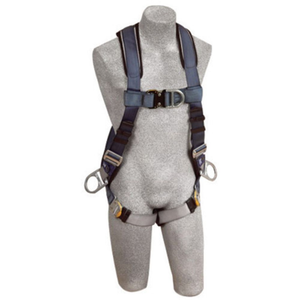 3M DBI-SALA X-Large ExoFit Full Body/Vest Style Harness With Back, Front And Side D-Ring, Quick Connect Chest And Leg Strap Buckle, Built-In Comfort Padding And Loops For Body Belt