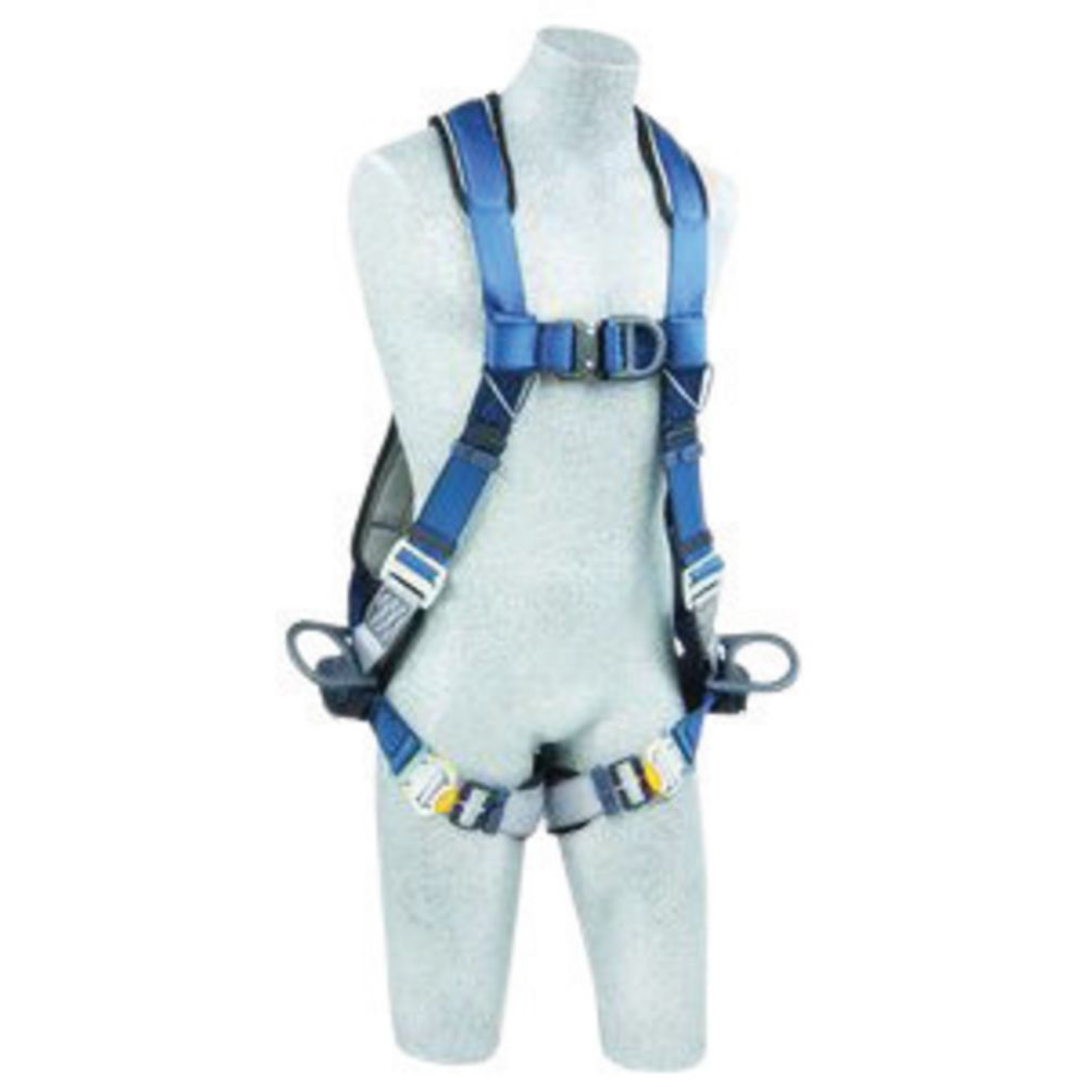 3M DBI-SALA X-Large ExoFit Full Body Vest Style Harness With PVC Coated Back, Side And Front D-Rring, Quick Connect Leg Strap Buckle, Lanyard Keeper And Built-In Comfort Padding