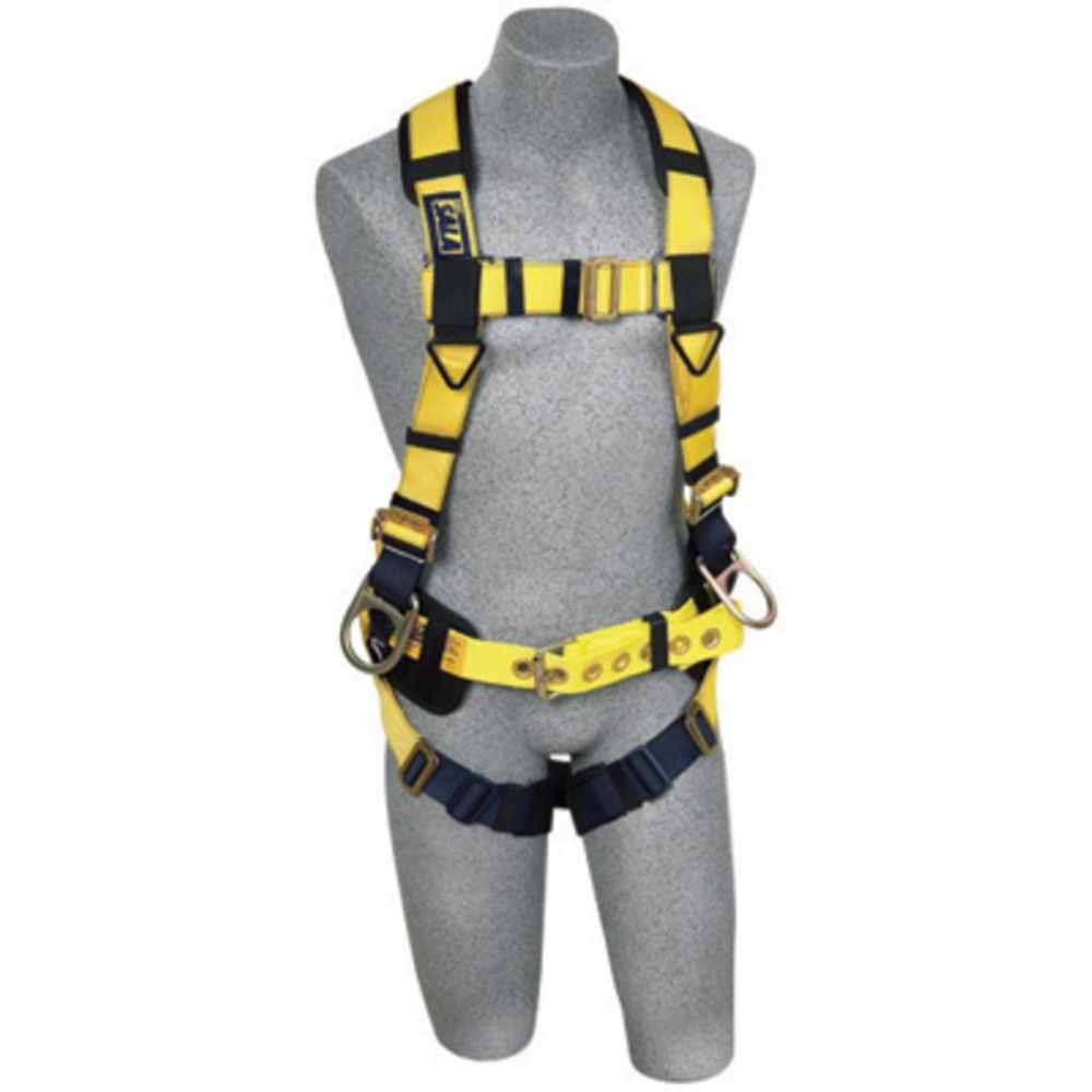 3M DBI-SALA X-Large ExoFit No-Tangle Full Body/Vest/Iron Worker Style Harness With Back And Side D-Ring, Pass-Thru Leg Strap Buckle, Belt With Adjustable Support Strap And Pad, Shoulder Pad And Reinforced Seat Strap