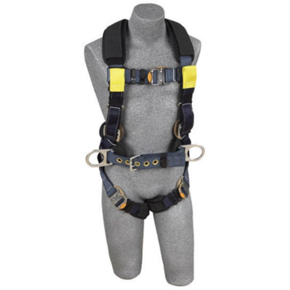 3M DBI-SALA X-Large ExoFit XP Arc Flash Construction Full Body Vest Style Harness With Back And Front Web Rescue Loop, Belt With Pad And Side D-Ring, Quick Connect Chest And Leg Strap Buckle, Leather Insulators And Nomex Kevlar Comfort Padding
