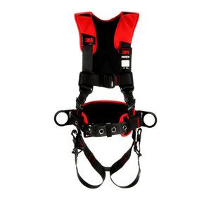 3M Protecta Medium - Large Comfort Construction Style Full Body Positioning Harness With Easy-Link Web Adapter, Auto-Resetting Lanyard Keeper And Impact Indicator