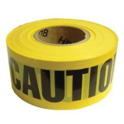 "Yellow Caution Tape -- 3"" X 1000'"
