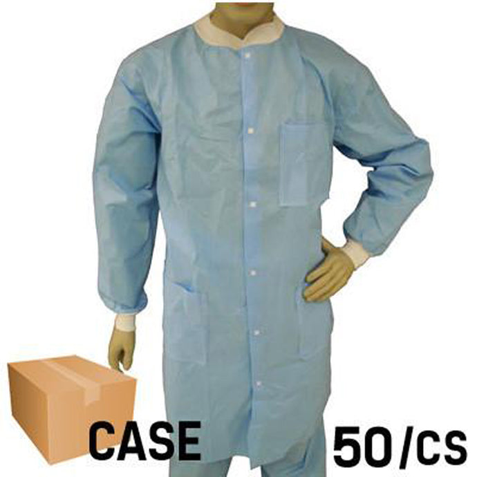 EPIC- Blue Lab Coat with Snap Front - Case