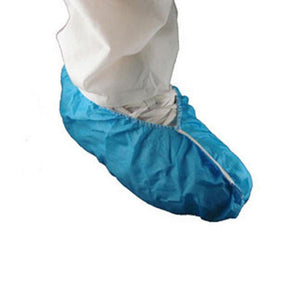 Blue Shoe Cover Heavy PE Coated - Case (300 Pieces)