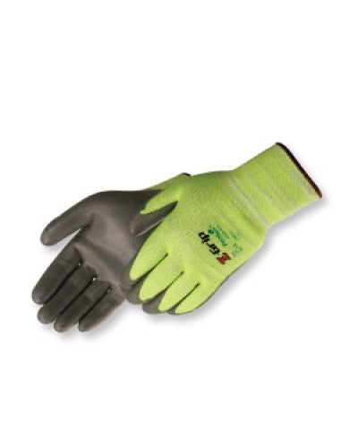 Z-Grip  Hi-Vis green seamless shell (PU coated) Gloves