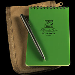 POCKET TOP-SPIRAL KIT 4x6 Green Book / Tan Cover