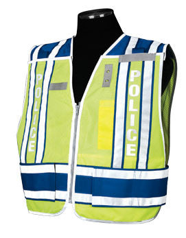 400 PSV Pro Series Public Safety Vest Size 2X-large - 4X-large Type: Police - Royal Blue, Lettering Yes