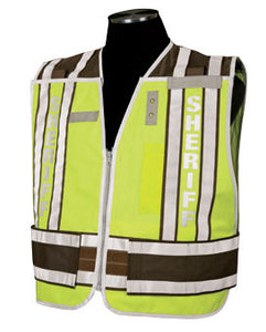 400 PSV Pro Series Public Safety Vest Type Sheriff - Brown Size: 2X-large - 4X-large, Lettering Yes