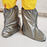 North Silver Shield Booties