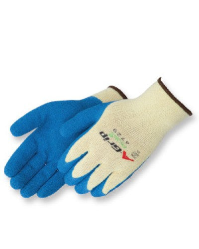 A-Grip  Textured blue latex palm coated Gloves - Dozen