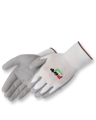 P-Grip Grey polyurethane - white shell Gloves - Dozen
