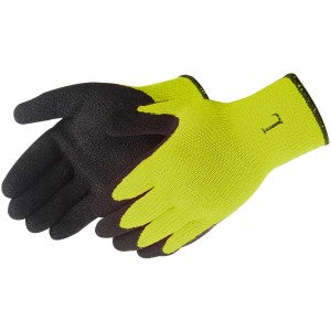 Liberty-A-GRIP® TEXTURED BLACK LATEX COATED (HI-VIZ GREEN)