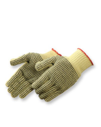 100% Kevlar Knit with PVC Dots Gloves - Dozen