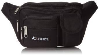 Everest Multiple Pocket Waist Pack  - Black