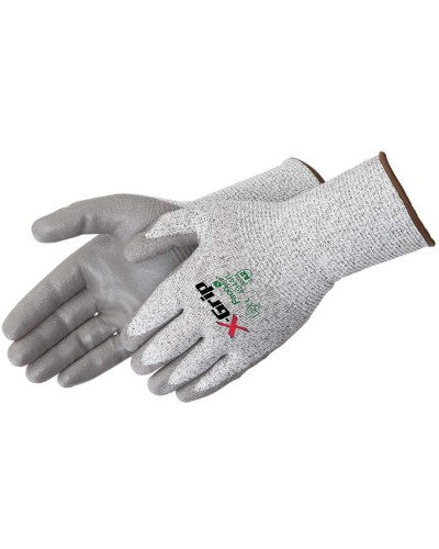 X-Grip Gray Polyurethane Palm Coated - Long Cuff Gloves