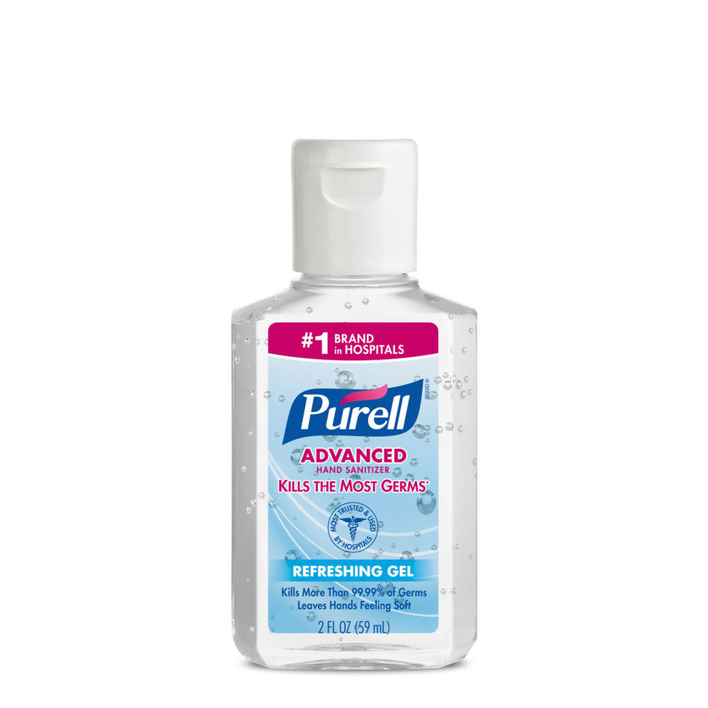 Purell Fragrance-Free Hand Sanitizer Clear Bottle - 2 Ounce
