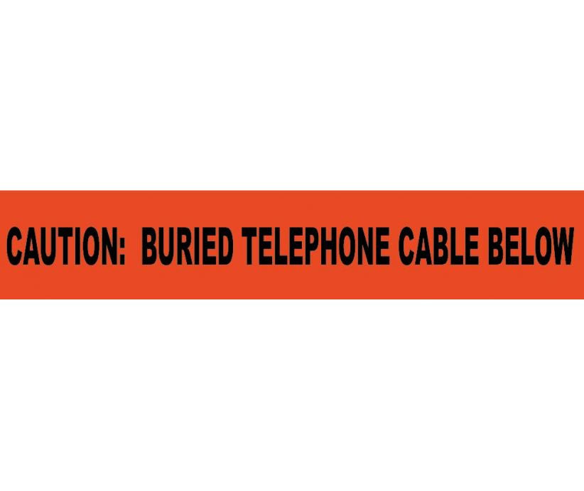 Caution Buried Telephone Cable Below Informer Non-Detectable Warning Tape - Roll